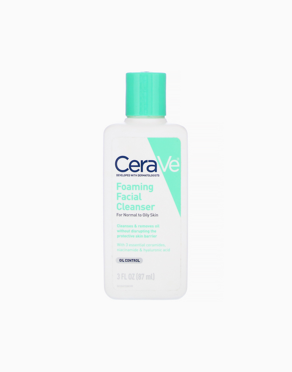 Foaming Facial Cleanser for Normal to Oily Skin (87ml) by CeraVe
