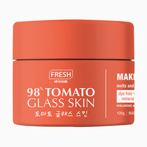 Fresh tomato makeup cleansing balm mockup front