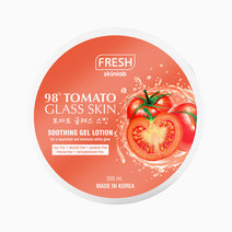 Fresh tomato soothing gel lotion mockup front