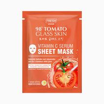 Fresh tomato vitamin c serum sheet mask mockup front