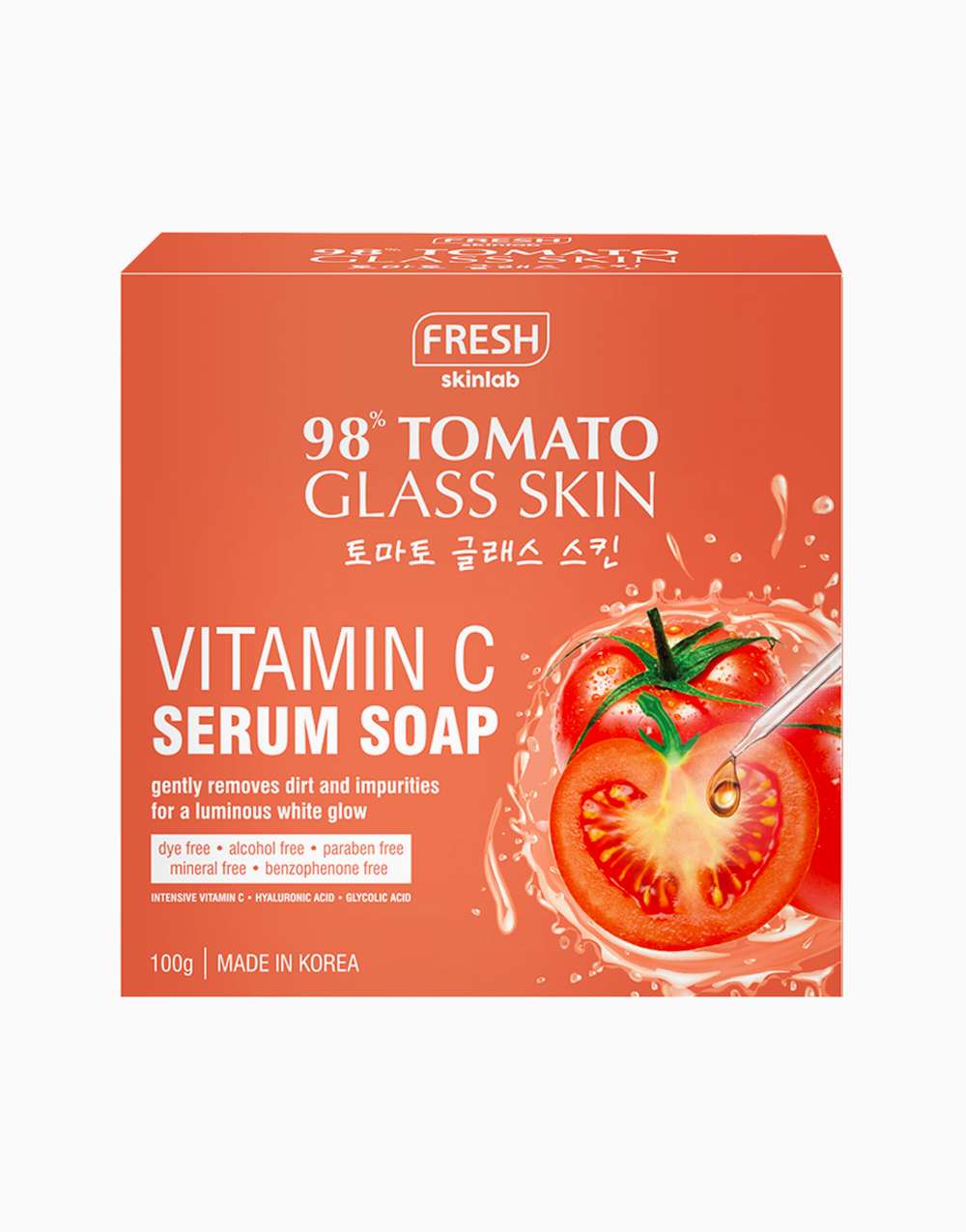 Fresh Tomato Glass Skin Vitamin C Serum Soap (100g) by Fresh Philippines