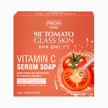 Fresh tomato vitamin c serum soap mockup front