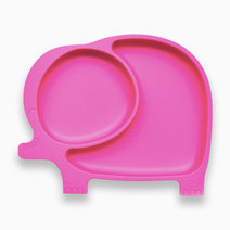 Sili Elly Silicone Divided Suction Plate (Hot Pink) by Bub a Petit