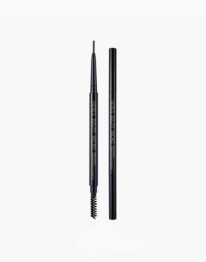 Micro Eyebrow Pencil with Brush by Here's B2uty | #001 Taupe