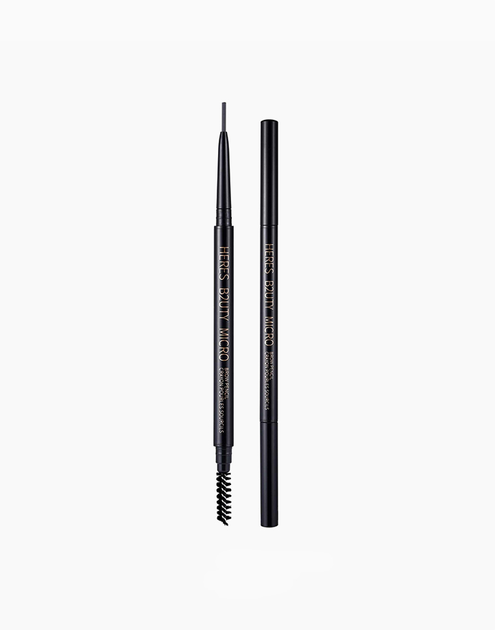 Micro Eyebrow Pencil with Brush by Here's B2uty | #003 Gray