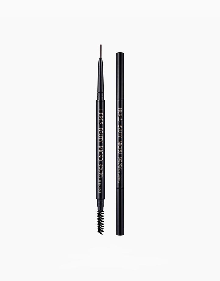 Micro Eyebrow Pencil with Brush by Here's B2uty | #002 Chocolate
