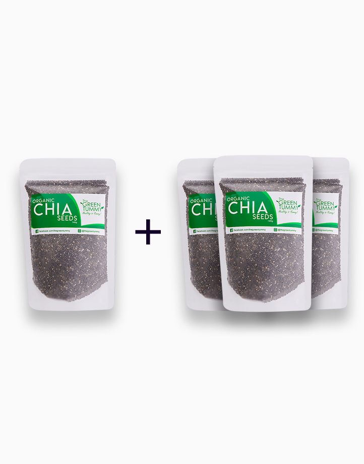 3 + 1 Bundle Organic Chia Seeds by The Green Tummy