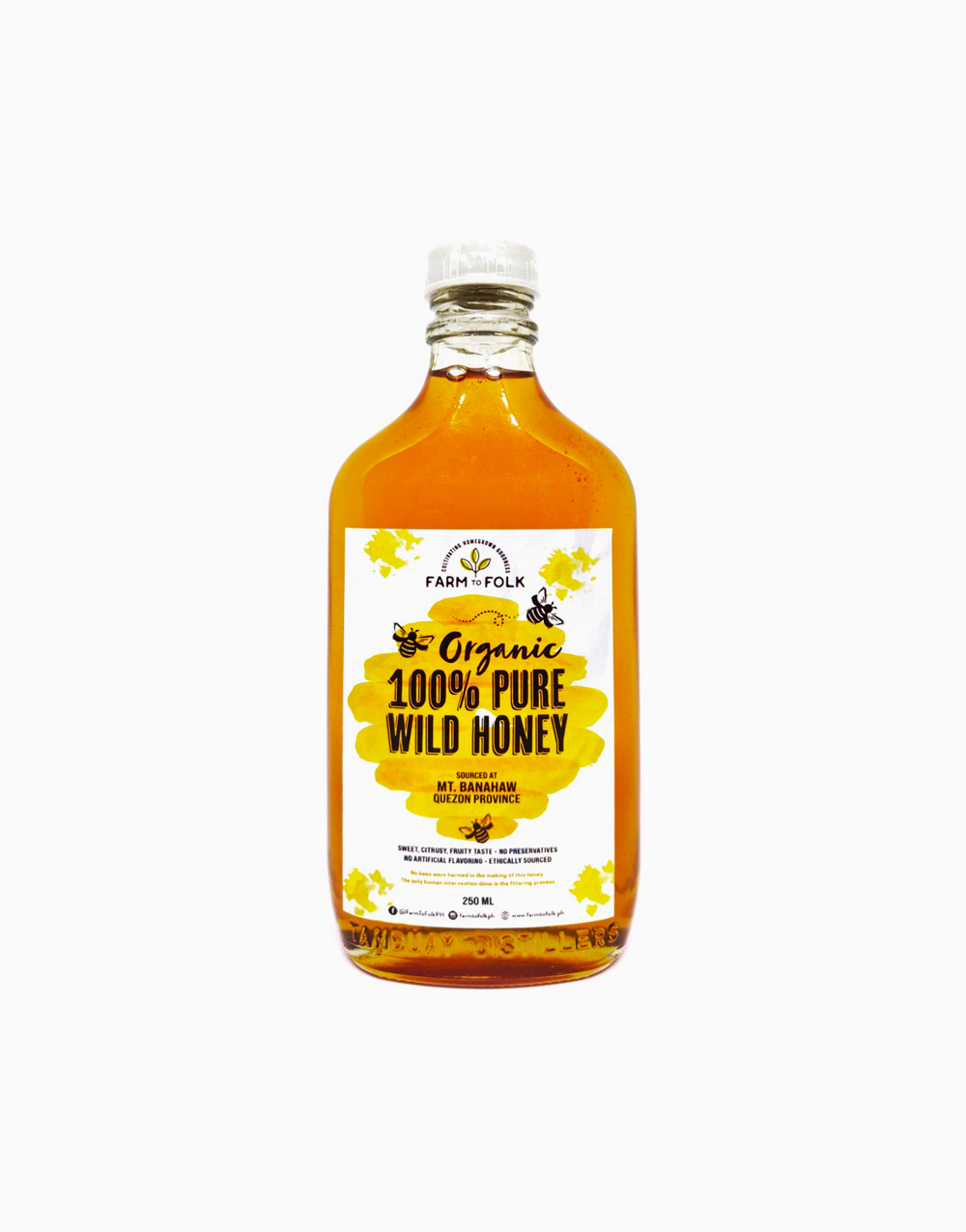 Organic 100% Pure Wild Honey (250ml) by Farm to Folk