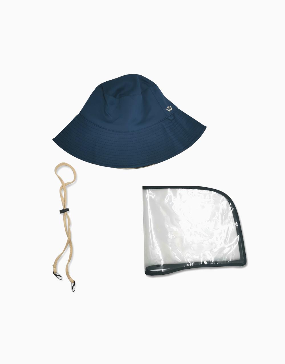 Reversible Bucket Hat by Wanderskye | Blue/Cream