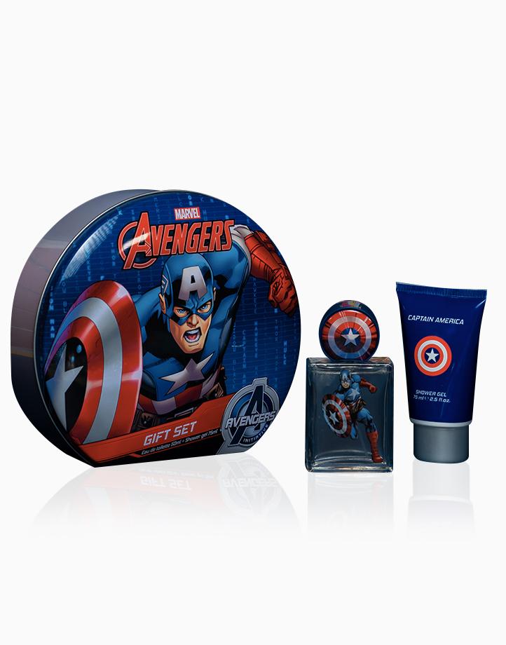 Captain America Gift Set: EDT (50ml) + Shower Gel (75ml) in Tin Case by Disney Fragrances