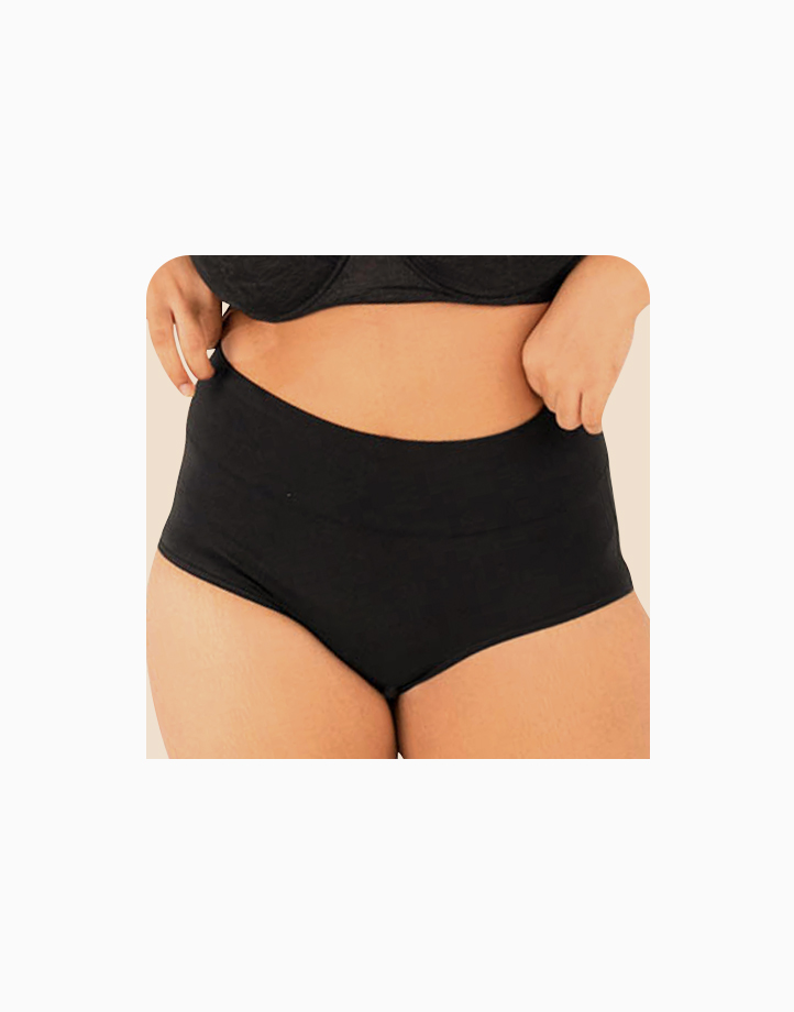 Belly Bikinis in Super Black (Set of 3 High Rise Control Panties) by Jellyfit |