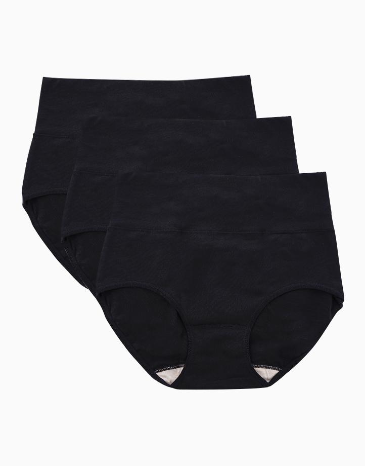 Belly Bikinis in Super Black (Set of 3 High Rise Control Panties) by Jellyfit | Medium