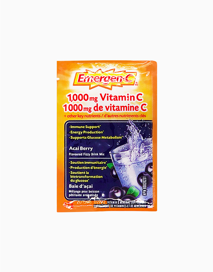 Acai Berry Flavor Dietary Supplement Fizzy Drink Mix with 1000mg Vitamin C (1 Sachet) by Emergen-C
