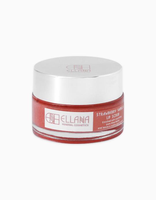 Strawberry Vanilla Edible Sugar Lip Scrub (18g) by Ellana Mineral Cosmetics