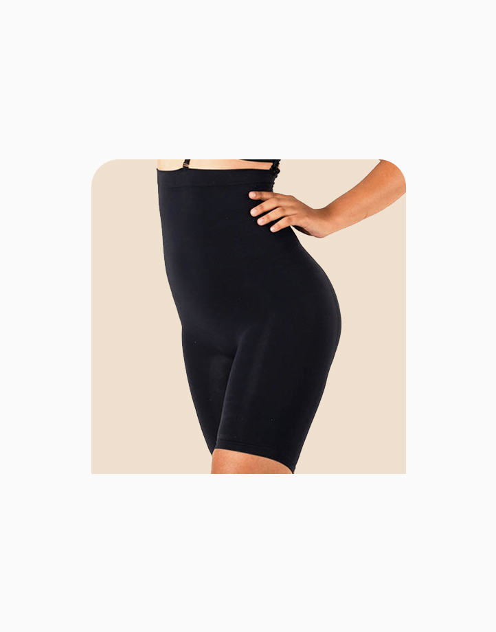 Super Shaper Thigh Bodysuit in Black by Jellyfit |