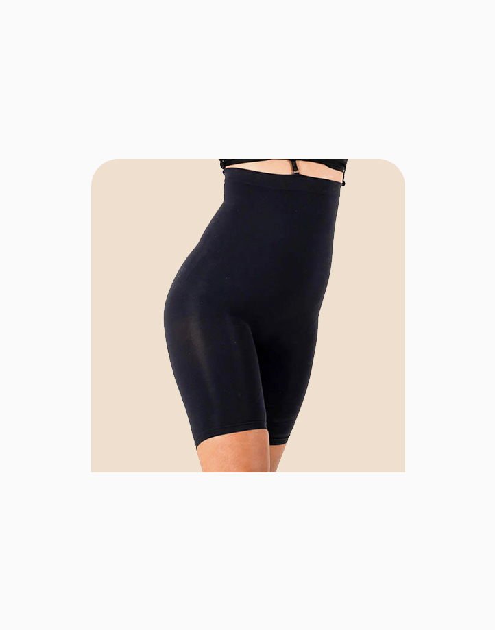 Super Shaper Thigh Bodysuit in Black by Jellyfit | M/L