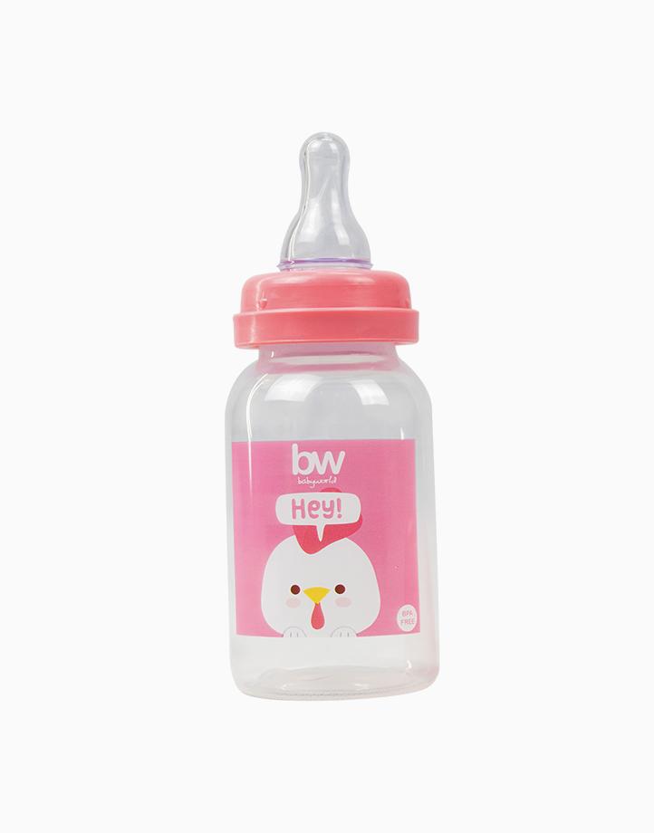 BW Feeding Bottle 4oz Round (017) by BabyWorld PH | Pink