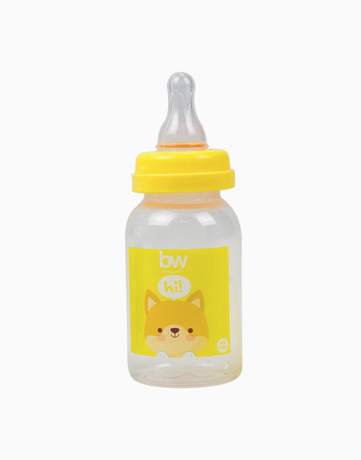 BW Feeding Bottle 4oz Round (017) by BabyWorld PH | Yellow