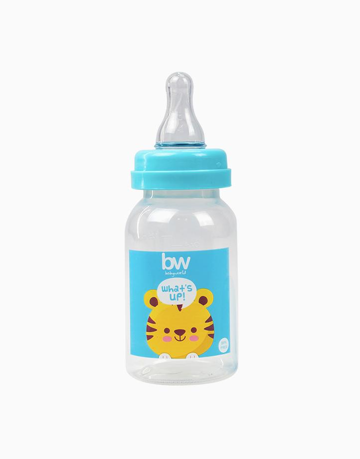 BW Feeding Bottle 4oz Round (017) by BabyWorld PH | Blue