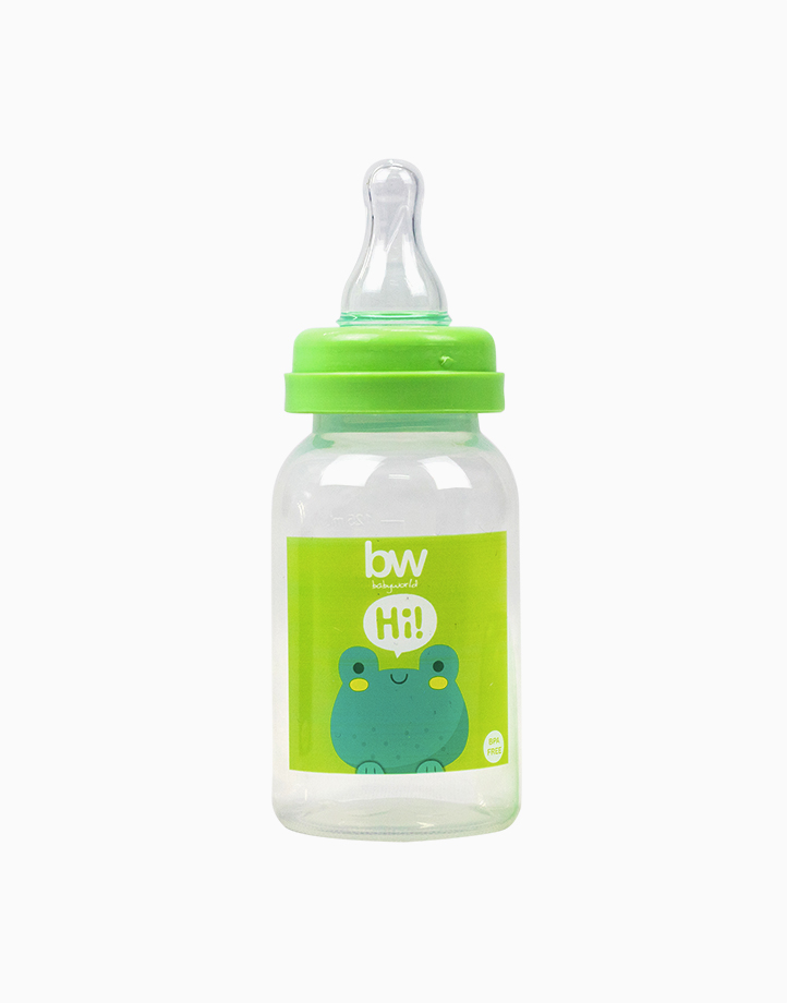 BW Feeding Bottle 4oz Round (017) by BabyWorld PH | Green