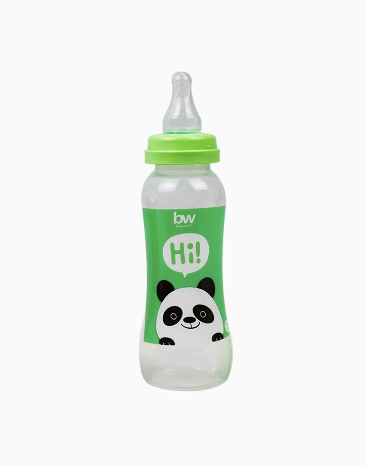 BW Feeding Bottle 8oz Shaped (031) by BabyWorld PH | Green
