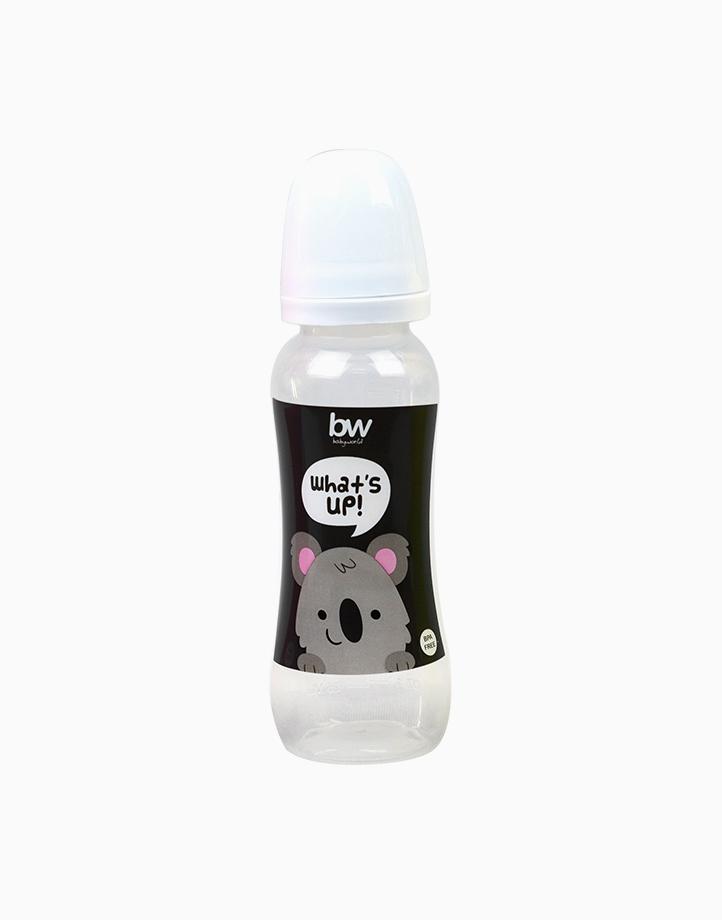 BW Feeding Bottle 8oz Shaped (031) by BabyWorld PH | White