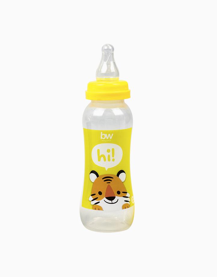BW Feeding Bottle 8oz Shaped (031) by BabyWorld PH | Yellow