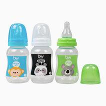 BW Feeding Bottle 4oz Shaped 3's (018-3) by BabyWorld PH