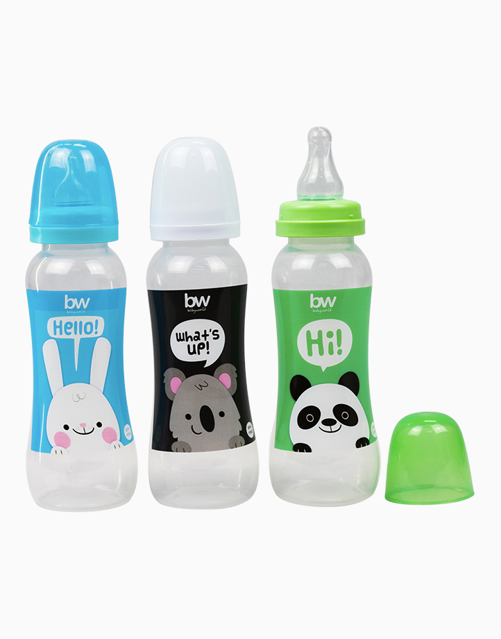 BW Feeding Bottle 8oz Shaped 3's (031-3) by BabyWorld PH | Boy Set