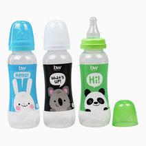 BW Feeding Bottle 8oz Shaped 3's (031-3) by BabyWorld PH