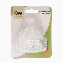 BW Anti-Colic Wideneck Teats 2pcs (205) by BabyWorld PH