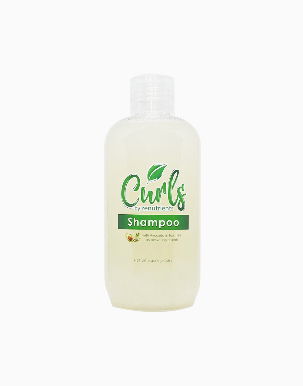 Curls by Zenutrients Avocado & Tea Tree Sulfate-Free Shampoo (250ml) by Zenutrients