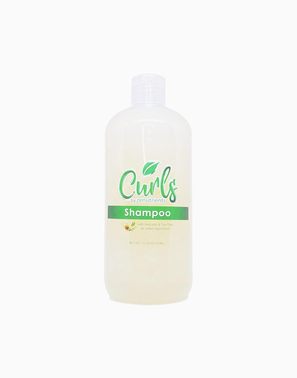 Curls by Zenutrients Avocado & Tea Tree Sulfate-Free Shampoo (500ml) by Zenutrients