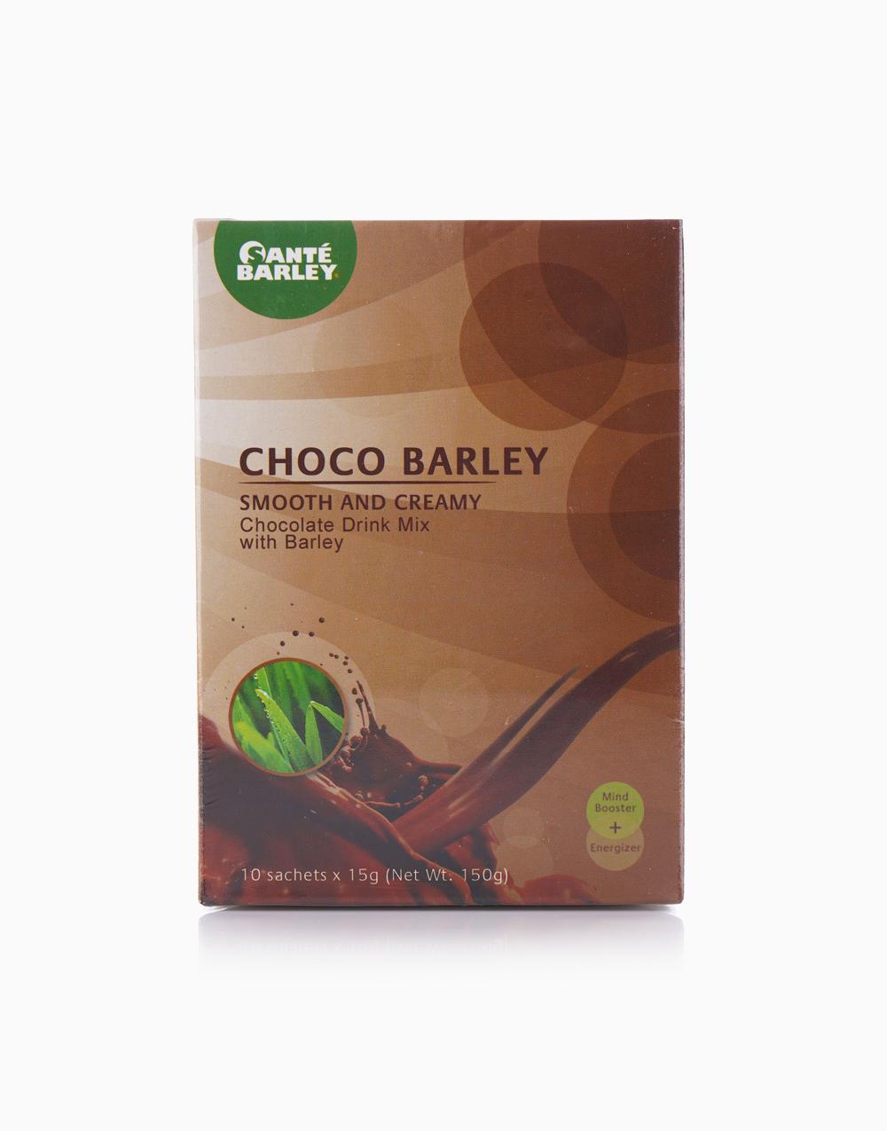 Choco Barley Smooth and Creamy Chocolate Drink Mix with Barley (10 Sachets, 15g) by Santé Barley