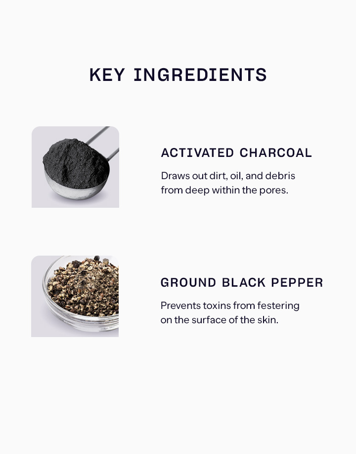 3 charcoaled pepper face and body scrub