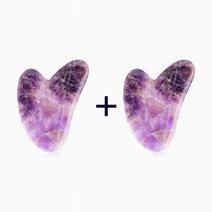 B1t1 crystal beauty amethyst heart guasha