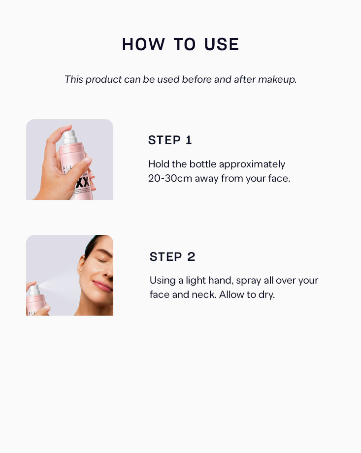 5 all day tight makeup setting fixer spray