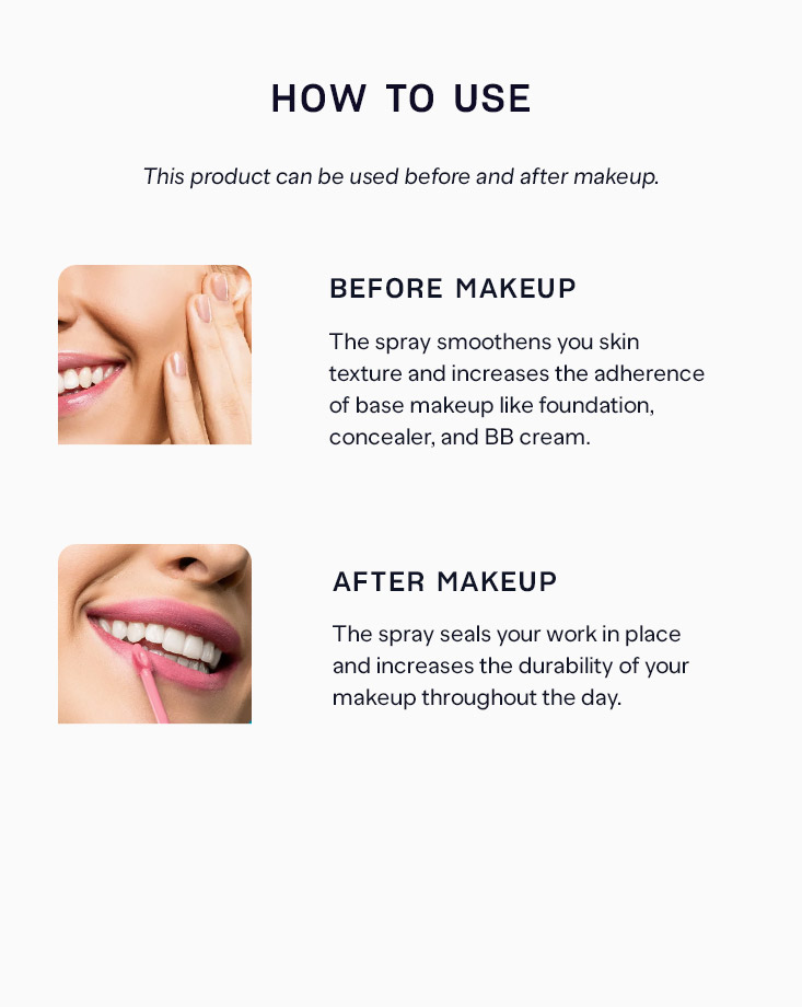 6 all day tight makeup setting fixer spray