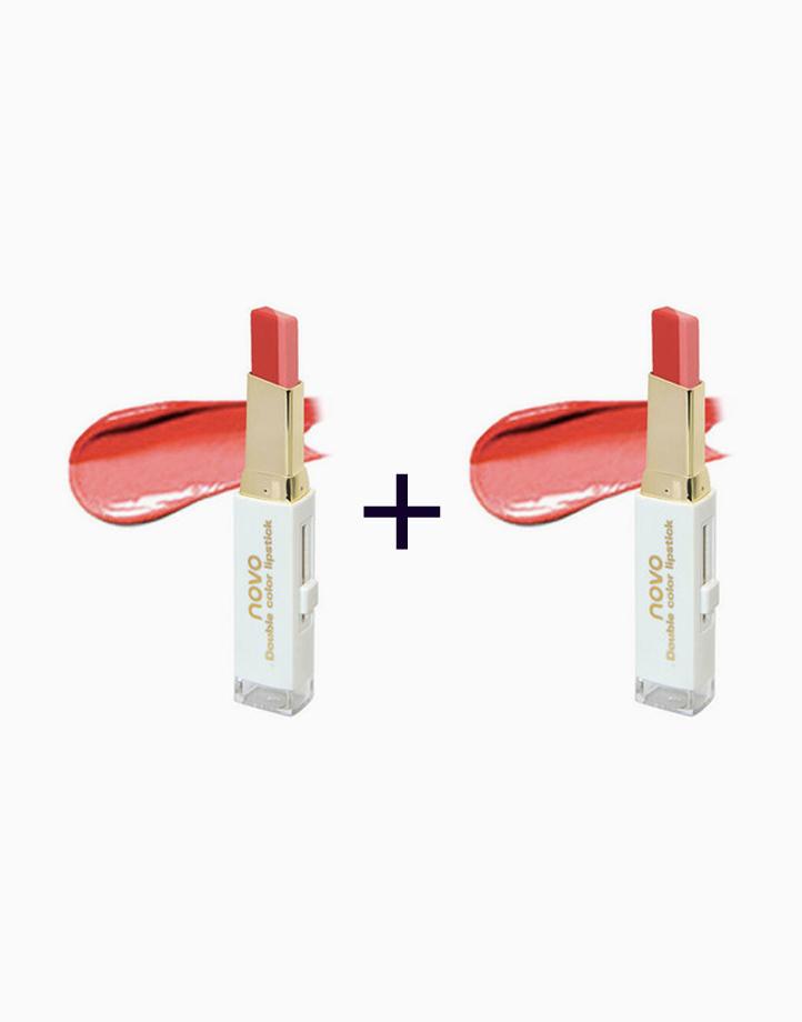 Two Tone Lip Bar #3 Red / Nude (Buy 1, Take 1) by Novo Cosmetics