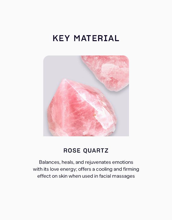 3 rose quartz face roller   gua sha set