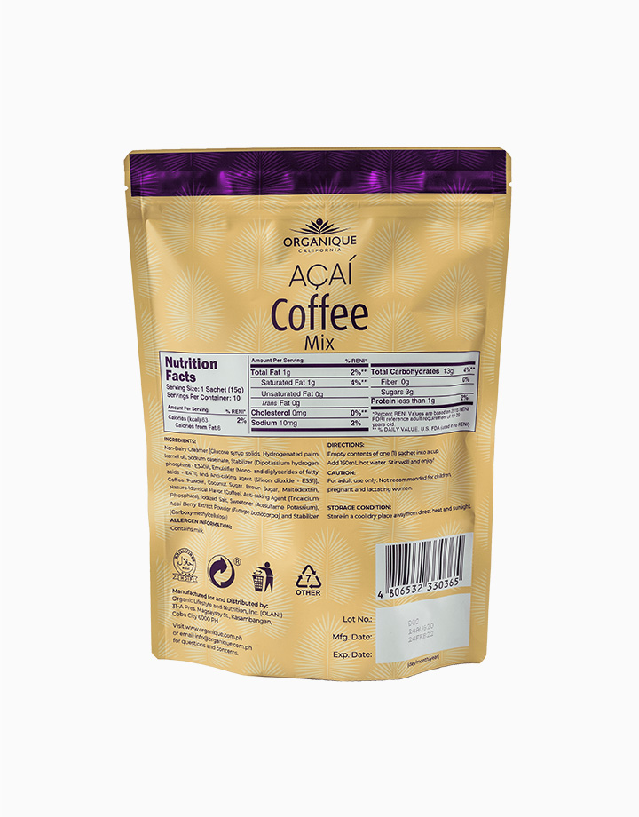 Acai Coffee Mix (15g, 10 Sachets) by Organique Açaí