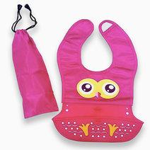 Owl Waterproof Silicon Bib by Kozy Blankie