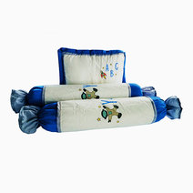 Kozy blankie space abc  pillow and bolster set