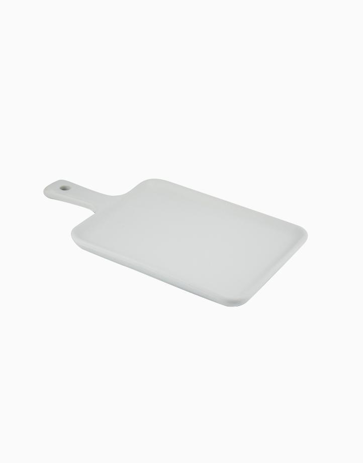 Matte Flat Mini Serving Tray by cozsho | Cool White