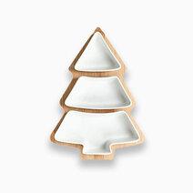 Cozsho christmas tree serving plate