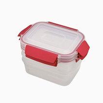 Joseph joseph nest lock 3 piece container set 3 x 1.1 l red