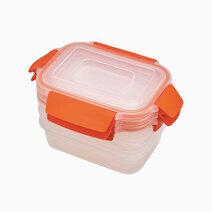 Joseph joseph nest lock 3 piece container set 3x 540ml orange 1