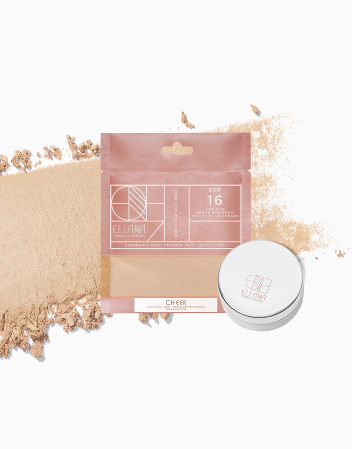 Loose Mineral Concealer Powder with Jar by Ellana Mineral Cosmetics | Cheer