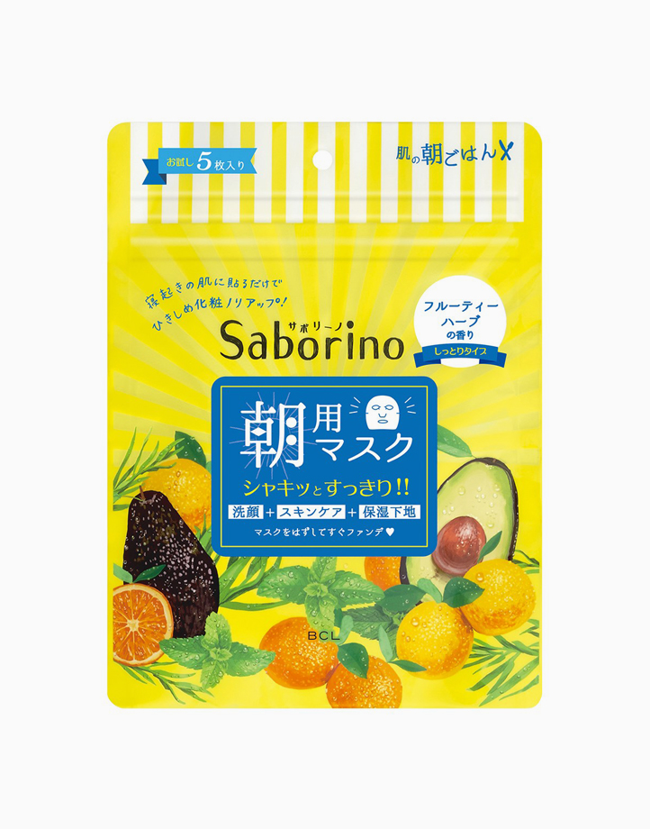 Morning Facial Sheet Mask (5 Sheets) by Saborino