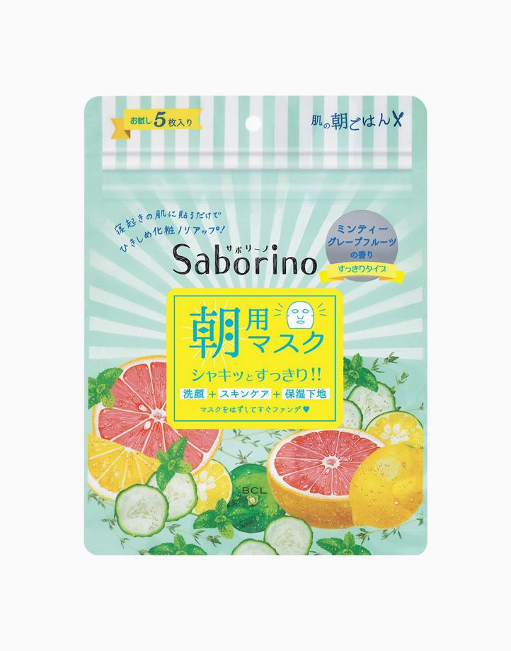 Morning Facial Sheet Mask Minty Fresh (5 Sheets) by Saborino